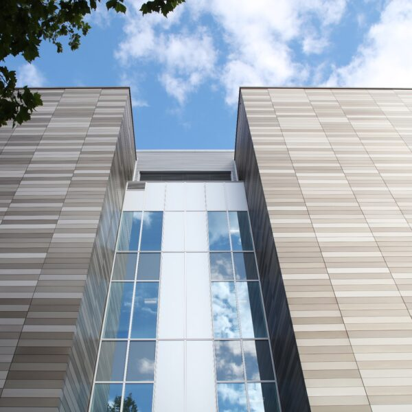 Optima XPC Rainscreen in Three-Colour Anodised Finish used for Apex Phase 2 in Liverpool