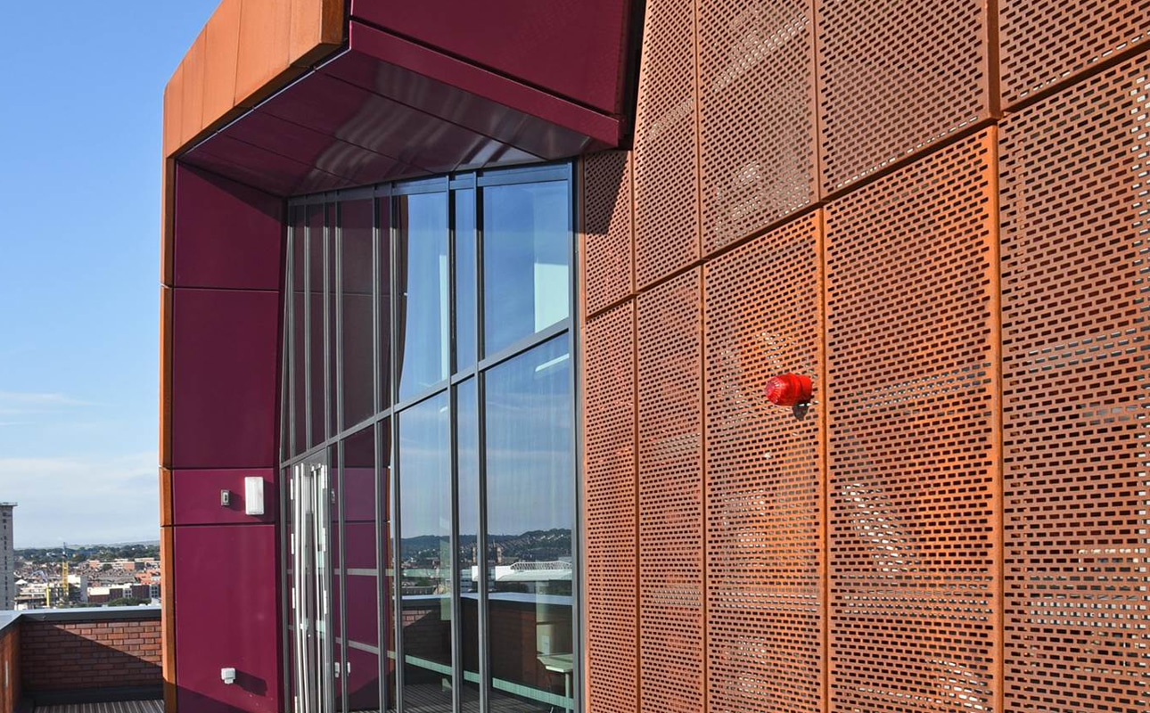 Corten material used on Charles Street - Rainscreen Cladding project
