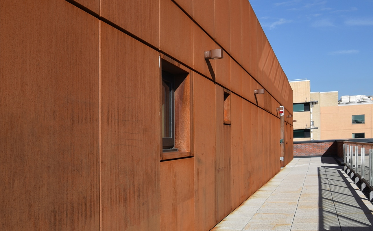 Corten Rainscreen Sheffield University, Charles Street