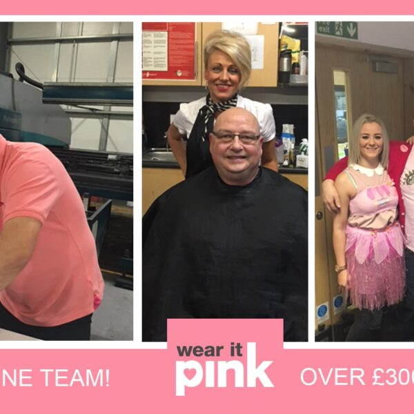 A Close Shave! Sotech Raise over £300 on Wear It Pink Day