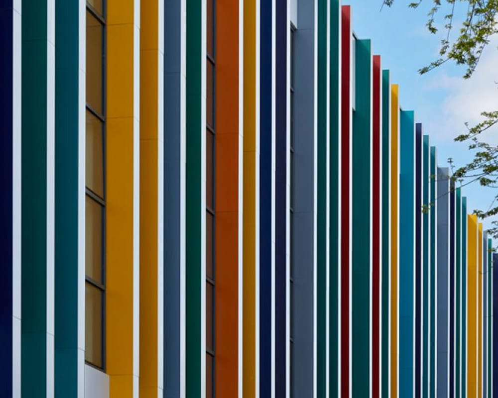 Regent High School Rainscreen Colours