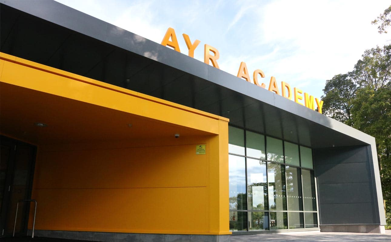 Ayr Academy - Horizontal Rainscreen