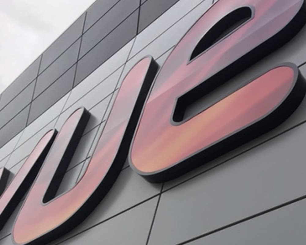 VUE Cinema TFC Rainscreen Cladding in PPC