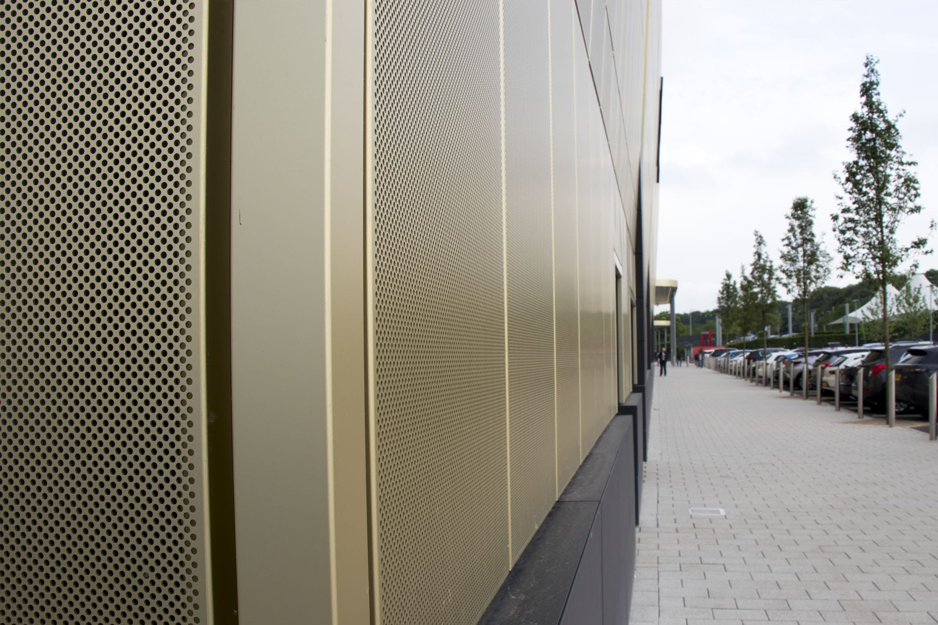 White Rose Shopping Centre Leeds - Perforated Regency Gold Rainscreen Panels