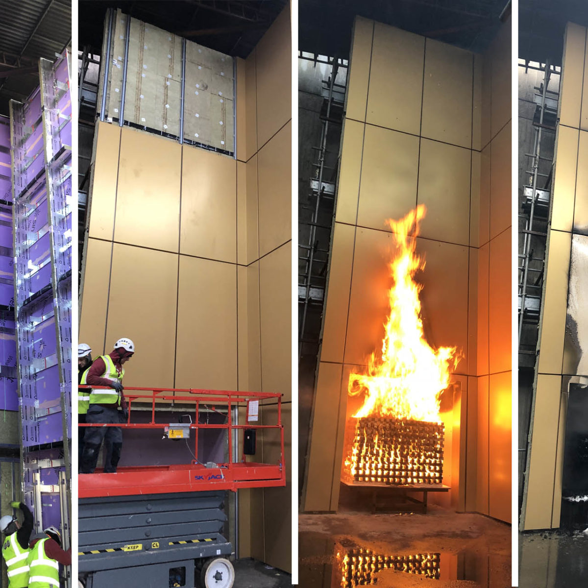 Understanding fire testing: BS 8414, BR 135 and BS 9414